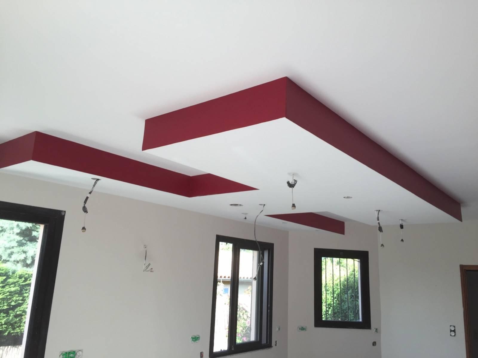 Fabrication Coffrage Plafond Decaisse Lumineux Avec Spots A Led